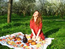 Free Picnic In The Garden Stock Image - 5628481