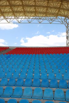 Empty Stadium Seats Royalty Free Stock Photography