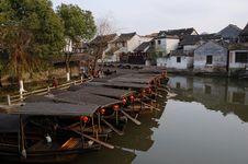 Free Xitang Boats Stock Photos - 5628923
