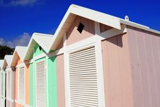 Free Summer Colorful Beach Huts Stock Images - 5628944