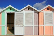 Free Beach Huts, Open Changing Room Royalty Free Stock Image - 5628946
