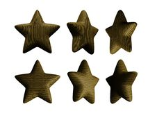 Wooden Star Solid Wood Isolated Stock Image