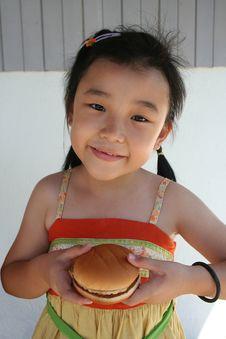 Free Burger Girl Stock Photo - 5629750