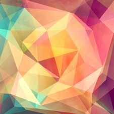Free Colorful Background With Polygons Stock Photo - 56215410