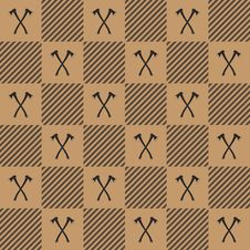 Lumberjack Vector Plaid Pattern With Axes Stock Photos