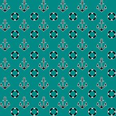 Free Navy Vector Pattern With Anchors Stock Photography - 56229112
