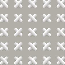 Free Vector Pattern With 3d Crosses Royalty Free Stock Image - 56229436
