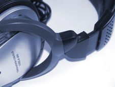 Free Headphones Dark Blue Royalty Free Stock Photos - 5630418