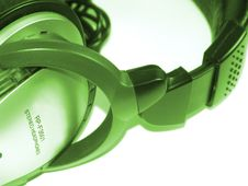 Free Headphones Green Royalty Free Stock Images - 5630509