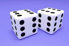 Free Dice 2 Royalty Free Stock Photography - 5630627