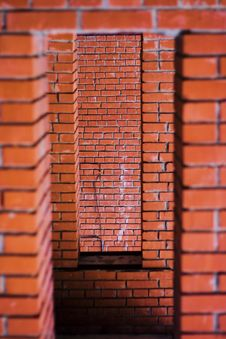 Free Brick Embrasure Royalty Free Stock Image - 5630746