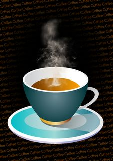 Free Hot Coffee With Text Royalty Free Stock Photo - 5630795