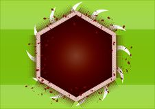 Free Hexagon Frame Royalty Free Stock Image - 5630916