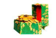 Free Gold Coins In A Box Royalty Free Stock Image - 5631156