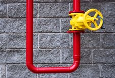Free Background. Wall And  Pipes. Royalty Free Stock Photos - 5631168