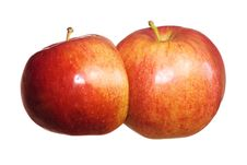 Free Double Apple On White Royalty Free Stock Photography - 5631177