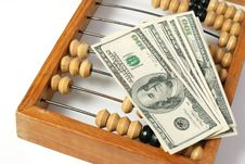 Free Abacus And Dollars Stock Photography - 5631252