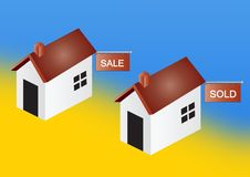 Free Houses For Sale And Sold Royalty Free Stock Photos - 5631258