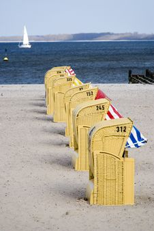 Free Beach Baskets Royalty Free Stock Image - 5631436