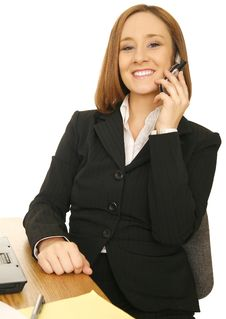Free Business Woman Sitting By Desk Stock Photos - 5631763