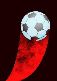 Fire Soccer Stock Photo