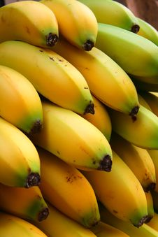 Free Bananas In The Market Stock Image - 5631851