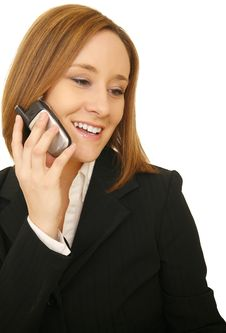 Free Business Woman Talking On The Phone Stock Photography - 5631892