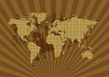 Pattern World Map - Grungy Royalty Free Stock Photos