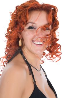 Young Woman With Red Hair Stock Photos
