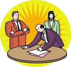 Sign Of Business Agreement Stock Image