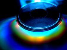 CD/DVD Rainbow Close-up Royalty Free Stock Photography