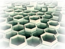 Free Abstract 3d Image Of Hexagon Stock Photography - 5635482
