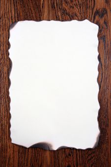 Free Old Paper On Wood Royalty Free Stock Photos - 5635648