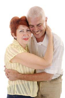 Free Laughing Senior Couple Stock Image - 5636061