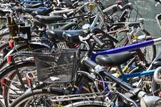 Bicycles On A Parking Stock Photography