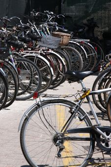 Free Bicycles On A Parking Stock Photos - 5636343