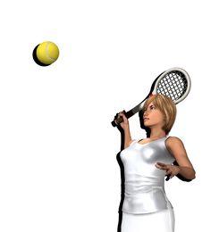 Free Women About To Hit Tennis Ball 3 Royalty Free Stock Photos - 5636488