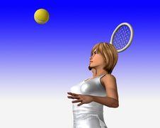 Free Women About To Hit Tennis Ball 3 Stock Photo - 5636500