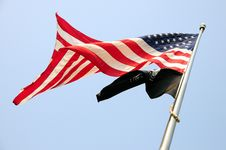 American And Pow Mia Flags Royalty Free Stock Images
