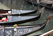 Free Gondolas In Venice Royalty Free Stock Images - 5636659