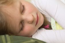 Free Sleeping Girl Stock Photography - 5636752