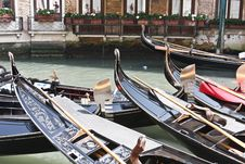 Free Gondolas In Venice Stock Photos - 5636783
