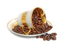 Free Cup With Coffee Beans Royalty Free Stock Photo - 5636805