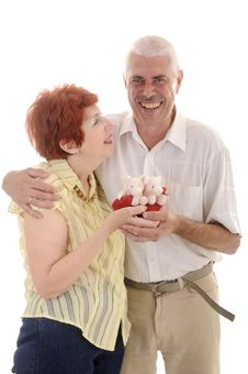 Free Senior Couple With Toy Royalty Free Stock Image - 5637346