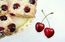 Free Shortcake With A Cherries Stock Photos - 5638053