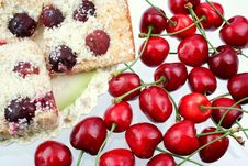 Free Shortcake With A Cherries Royalty Free Stock Photos - 5638158
