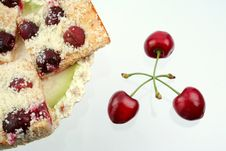 Free Shortcake With A Cherries Royalty Free Stock Photos - 5638198