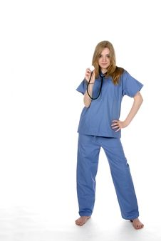 Free Female Doctor With Stethoscope Royalty Free Stock Photography - 5638647