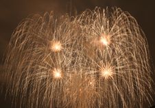 Fireworks  In Darkness Stock Photography