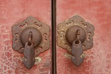 Free Handles In Forbidden City Royalty Free Stock Photo - 5639655